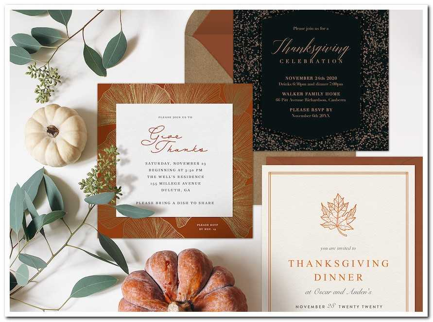 Inviting Your Guests to Your Thanksgiving Party